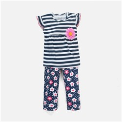 "Костюм-двойка Jumping Beans ""Floral Abstract Stripes"" - Размер : 18М (86)"